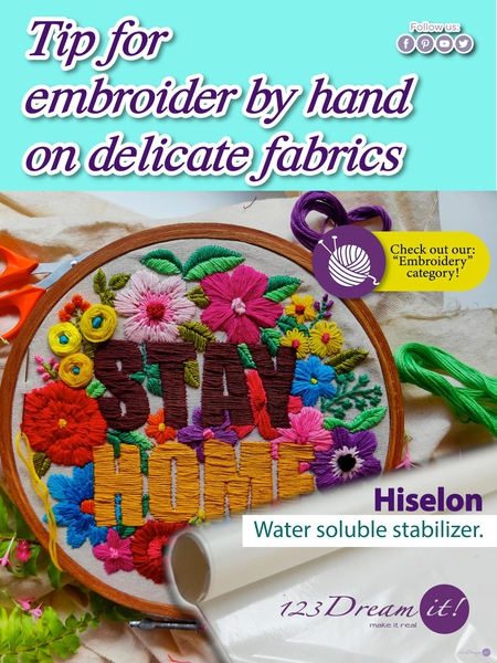 TIP FOR EMBROIDER BY HAND ON DELICATE FABRICS