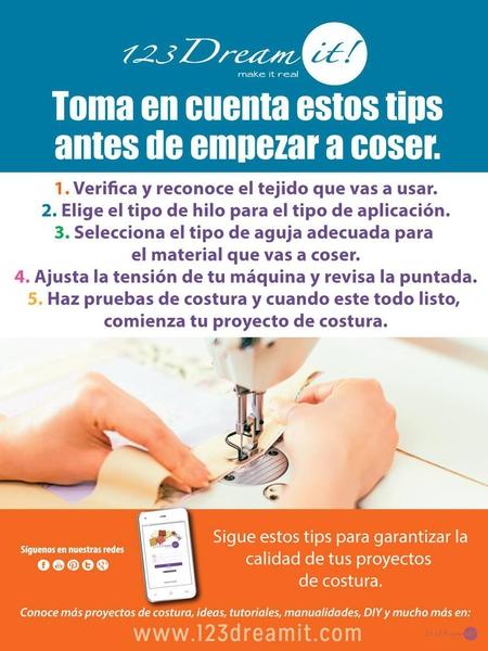 Toma en cuenta estos tips antes de empezar a coser.