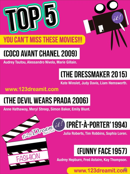 TOP 5 OF FASHION MOVIES YOU CAN'T MISS!