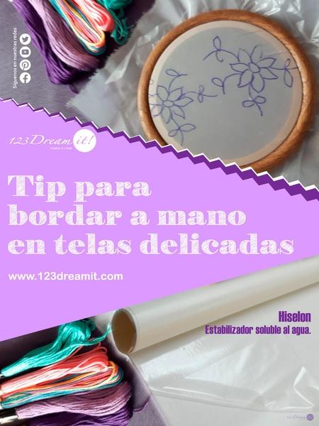 Tip para bordar a mano en telas delicadas