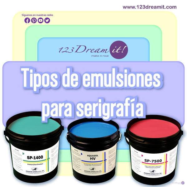 Tipos de emulsiones para serigrafía