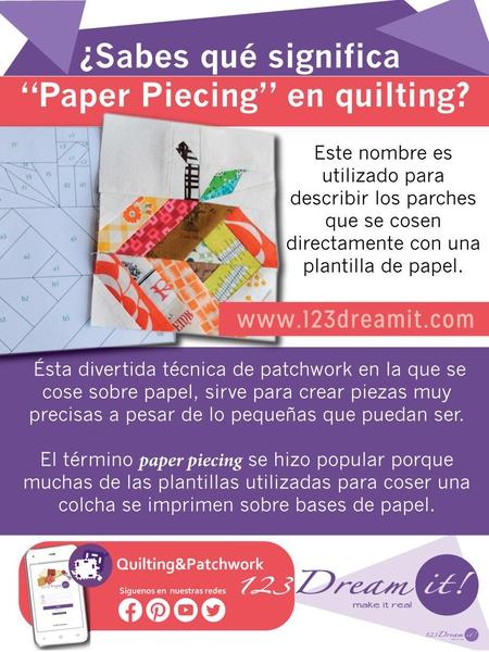 ¿Sabes qué es el paper piecing?