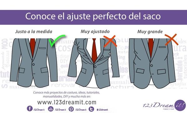 Conoce el ajuste perfecto de saco y pantalón