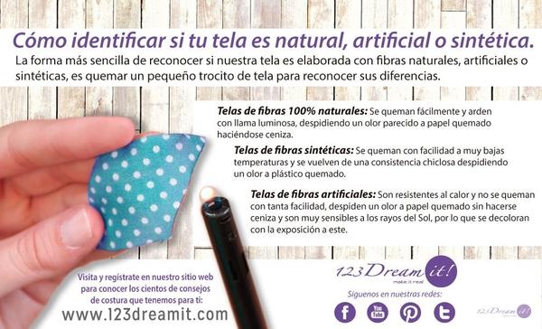 Como identificar si la tela es natural, sintética o artificial