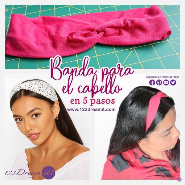Banda para el cabello en 5 pasos - DIY