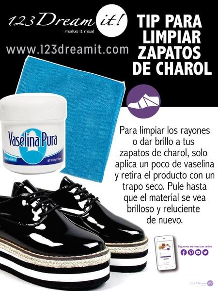 Tip par limpiar zapatos de charol
