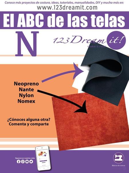 """El ABC de las telas letra """"N"""""""