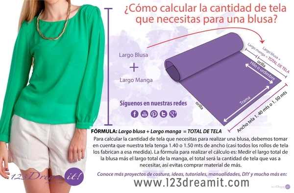 Como calcular la tela para una blusa