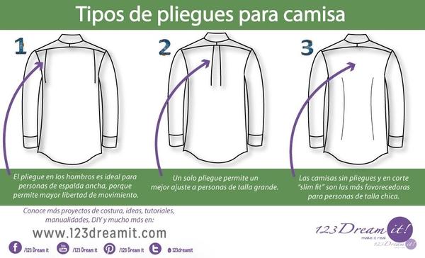 Tipos de pliegues para camisas