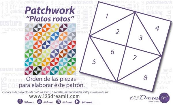 "Patrón patchwork ""Platos Rotos"""