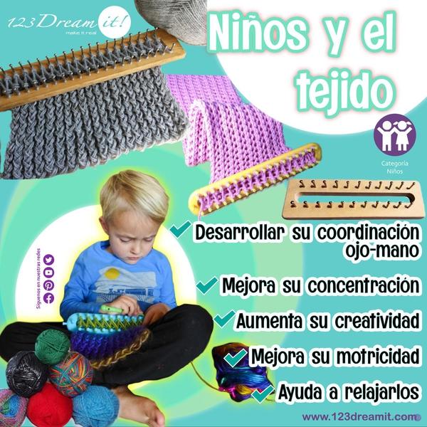 Niños y el tejido