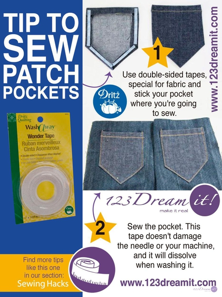 TIP TO SEW PATCH POCKETS