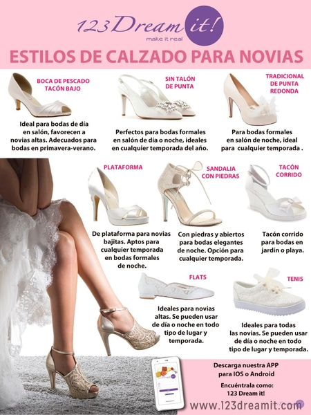Estilos de calzado para novias