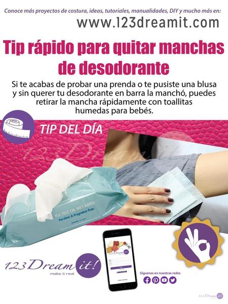 Tip del día: ¡Retira manchas de desodorante con toallitas de bebé!