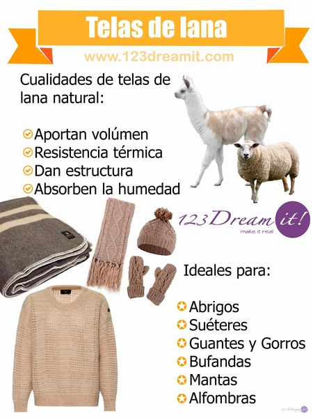 Telas de lana