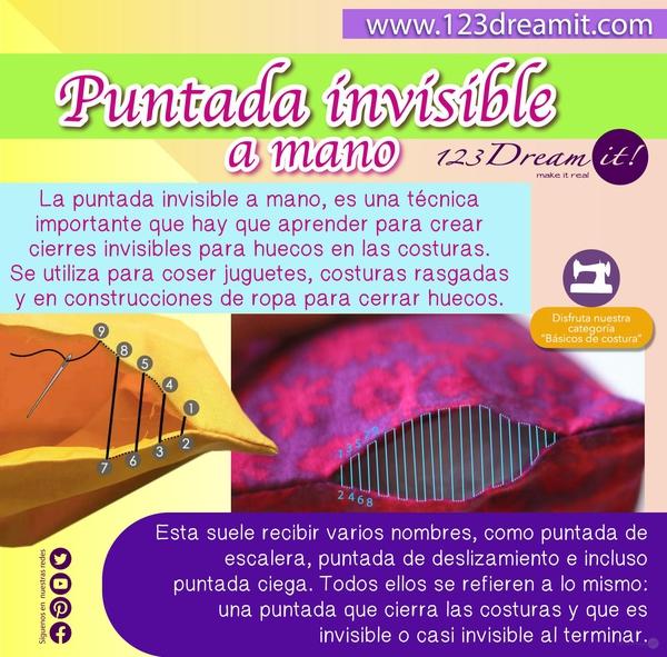 PUNTADA INVISIBLE A MANO