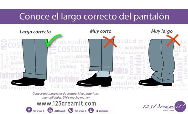 Conoce el largo correcto de pantalones y mangas