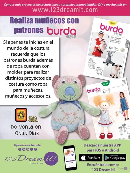 ¡Realiza muñecos con patrones Burda!