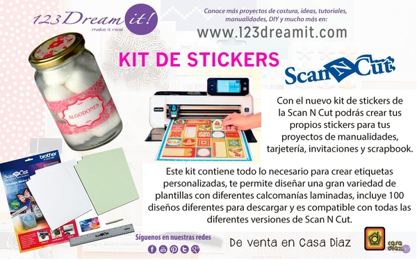 Kit de stickers para la Scan N Cut