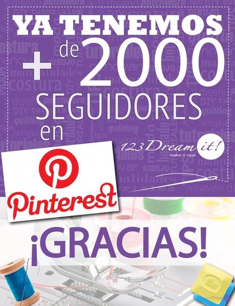 ¡Ya somos más de 2000 en Pinterest!