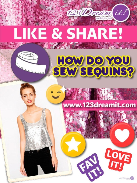 HOW DO YOU SEW SEQUINS?