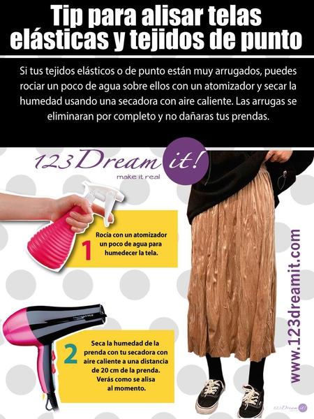 Tip para alisar telas elásticas y tejidos de punto