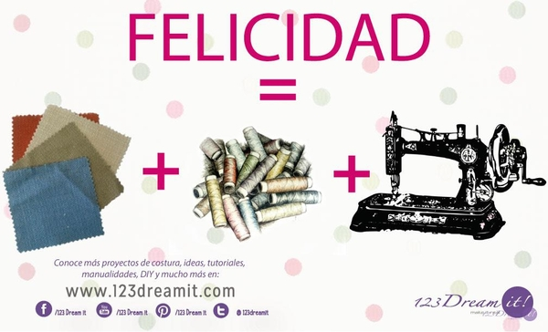 Telas + Hilos + Máquina de coser
