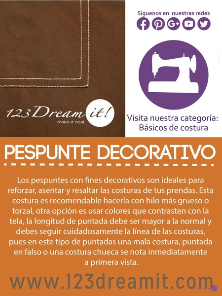Pespunte decorativo