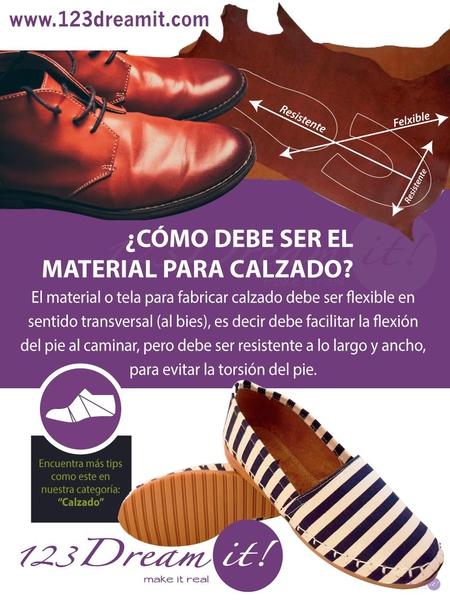 ¿Cómo debe ser el material para calzado?