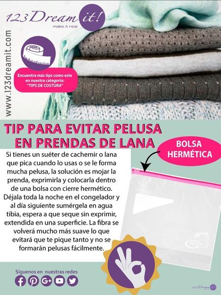 Tip para evitar pelusas en prendas de lana