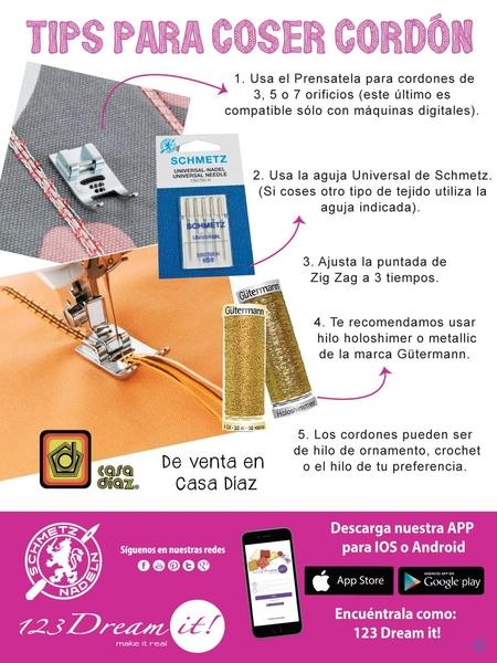 Tips para coser cordón