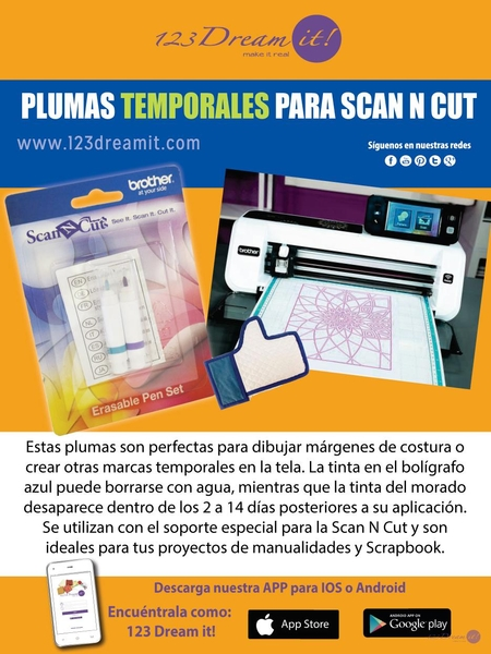 Plumas temporales para Scan N Cut