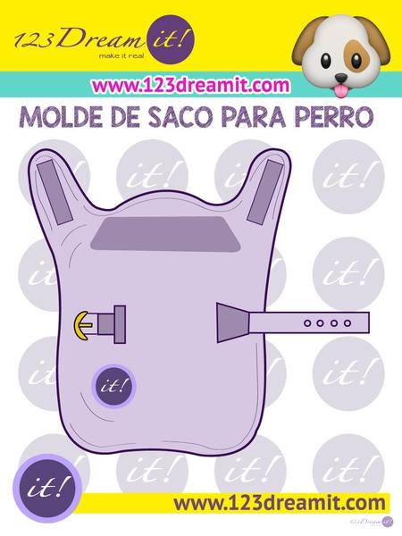MOLDE DE SACO PARA PERRO