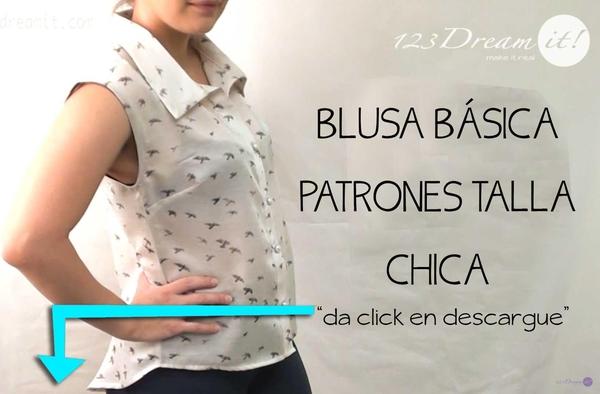 Blusa Básica - Patrones Talla CH