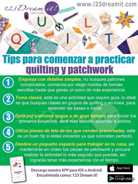 Tips para comenzar a practicar quilting y patchwork