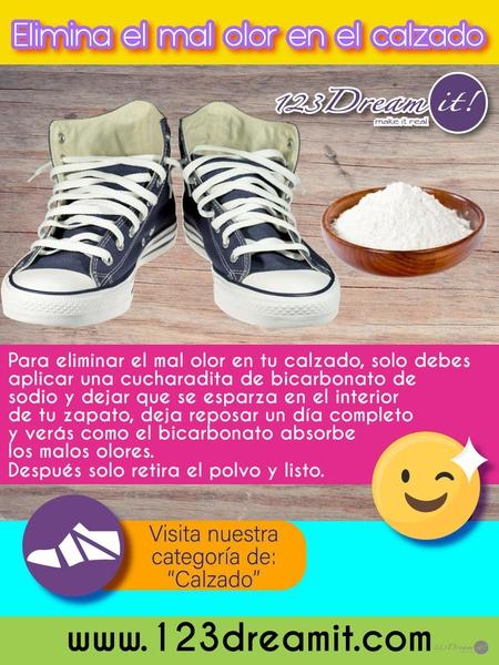 Tip para quitar el mal olor de los zapatos