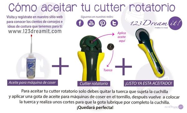 ¡Aceita tu cutter rotatorio!