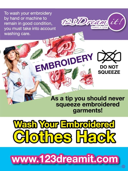 WASH YOUR EMBROIDERED CLOTHES HACK