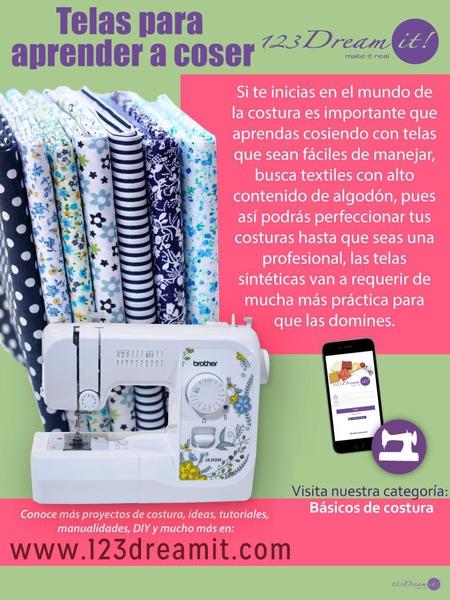 ¿Sabes qué telas son ideales para aprender a coser?