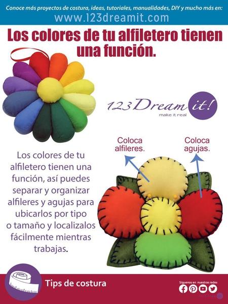 Conoce la función de los colores en tu alfiletero