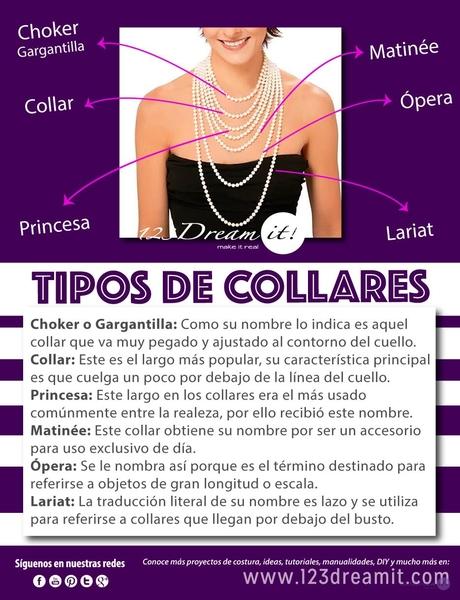 ¡Conoce los diferentes estilos de collares que puedes usar!