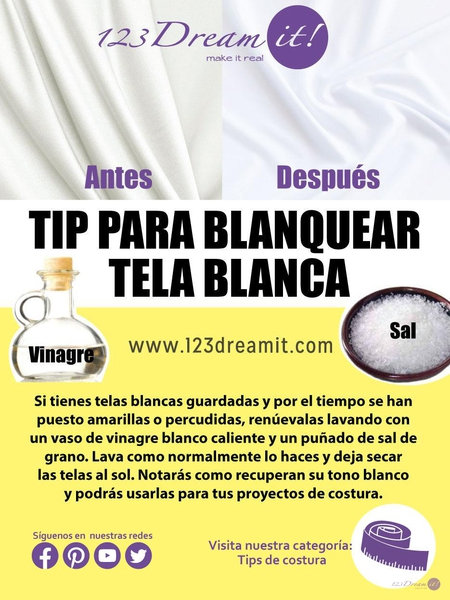 Tip para blanquear tela blanca