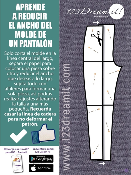 Aprende a reducir el molde de un pantalón