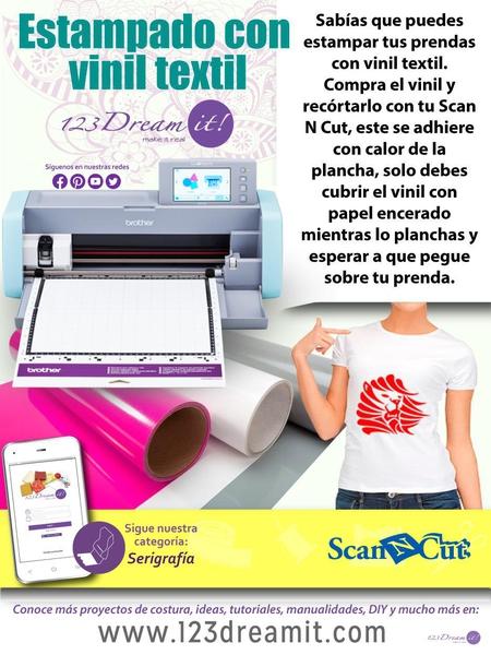 Conta vinil textil con tu Scan N Cut