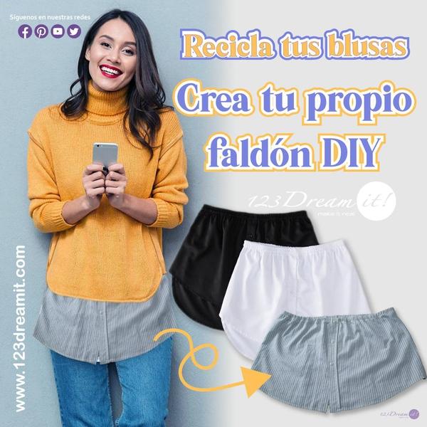 Recicla tus blusas - Crea tu propio faldón DIY