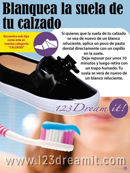 Blanquea la suela de tu calzado