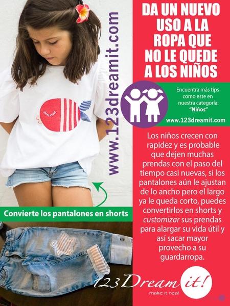 Da un nuevo uso a la ropa que no le quede a los niños