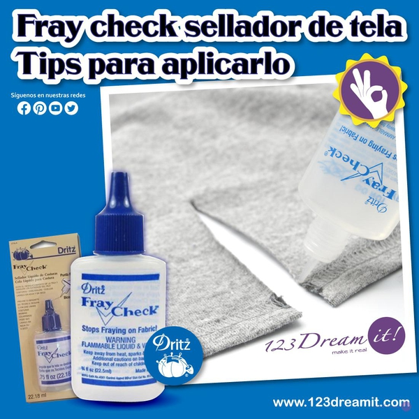Fray check sellador de tela Tips para aplicarlo
