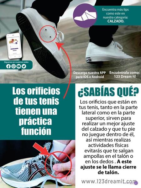 ¿Sabías qué los orificios de los tenis tienen una función?