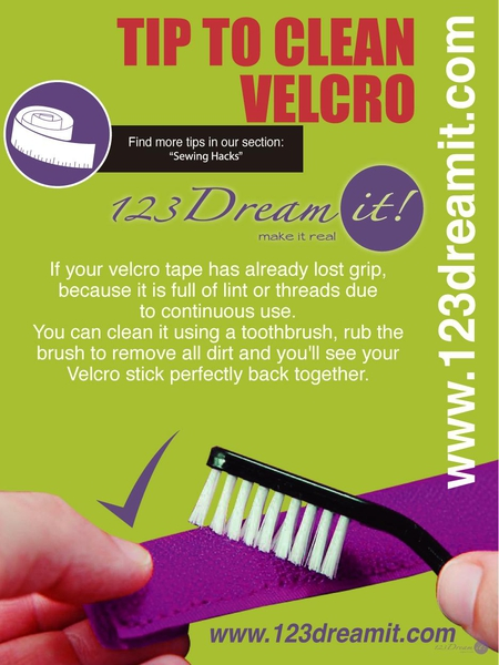 TIP TO CLEAN VELCRO